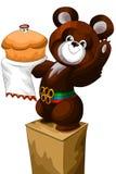 Olympic bear pedestal character cartoon  illustration Stock Photos