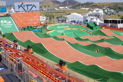 The Olympic BMX Centre during Rio2016 Stock Image