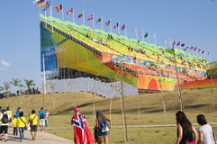 The Olympic BMX Centre during Rio2016 Stock Photo