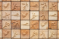 Olympic brick texture background Stock Photography