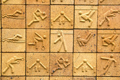 Olympic brick texture background Royalty Free Stock Photo