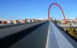 Olympic bridge, Turin, Italy Stock Photos