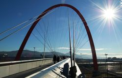 Olympic bridge, Turin, Italy Royalty Free Stock Images