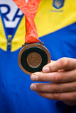 Olympic bronze medal in Beijing Royalty Free Stock Photos