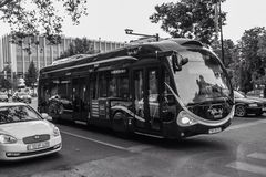 Olympic bus on Baku street Royalty Free Stock Photography
