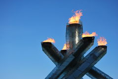 Olympic Cauldron. The Olympic Cauldron for the 2010 Vancouver Winter Olympic and Paralympic Games royalty free stock photo
