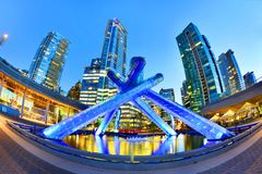 Olympic Cauldron at Vancouver, Canada stock image