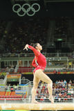 Olympic champion Aly Raisman of United States competes on the balance beam at women`s all-around gymnastics at Rio 2016 Olympics Stock Images