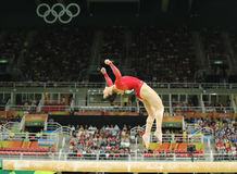 Olympic champion Aly Raisman of United States competes on the balance beam at women`s all-around gymnastics at Rio 2016 Olympics Stock Image