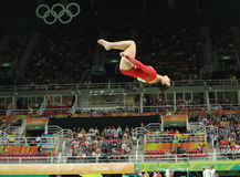 Olympic champion Aly Raisman of United States competes on the balance beam at women`s all-around gymnastics at Rio 2016 Olympics Stock Photos