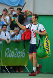 Olympic champion Andy Murray of Great Britain enters court before men's singles final of the Rio 2016 Olympic Games Stock Photography