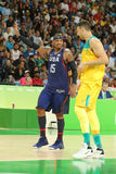 Olympic champion Carmelo Anthony of Team USA in action duringt group A basketball match between Team USA and Australia Stock Image