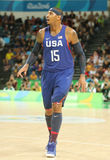 Olympic champion Carmelo Anthony of Team USA in action at group A basketball match between Team USA and Australia of the Rio 2016 Stock Image