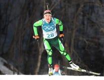 Olympic Champion Darya Domracheva Of Belarus Competes In Biathlon Women`s 15km Individual At The 2018 Winter Olympics Royalty Free Stock Image