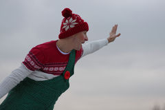 Olympic champion in figure skating Alexei Yagudin in character of Karlsson-on-the-roof Royalty Free Stock Images