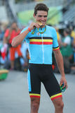 Olympic champion Greg Van Avermaet of Belgium after men Cycling Road medal ceremony of the Rio 2016 Olympic Games Stock Images