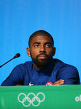 Olympic champion Irving Kyrie during men`s basketball team USA press conference at Rio 2016 Olympic Games Press Center Stock Photography