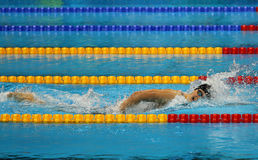 Olympic champion Katie Ledecky of United States competes at the Women's 800m freestyle of the Rio 2016 Olympic Games Stock Photos