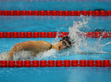 Olympic champion Katie Ledecky of United States competes at the Women's 800m freestyle of the Rio 2016 Olympic Games Stock Photography