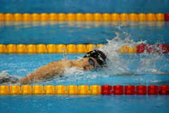 Olympic champion Katie Ledecky of United States competes at the Women's 800m freestyle of the Rio 2016 Olympic Games Royalty Free Stock Photography