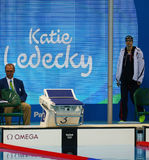 Olympic champion Katie Ledecky of United States before the Women's 800m freestyle competition of the Rio 2016 Stock Photography