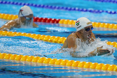 Olympic Champion Katinka Hosszu of Hungary competes in the Women`s 100m backstroke Final of the Rio 2016 Olympic Games Royalty Free Stock Images