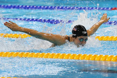 Olympic champion Madeline Dirado of United States swims the Women`s 200m Individual Medley Heat 3 of Rio 2016 Olympic Games Stock Images