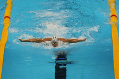 Olympic champion Michael Phelps of United States competes at the Men's 200m individual medley of the Rio 2016 Olympic Games Stock Photos