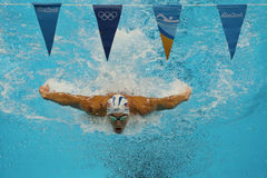 Olympic champion Michael Phelps of United States competes at the Men's 200m individual medley of the Rio 2016 Olympic Games Stock Images