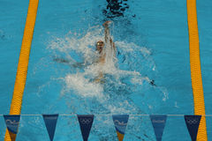 Olympic champion Michael Phelps of United States competes at the Men's 200m individual medley of the Rio 2016 Olympic Games Royalty Free Stock Images