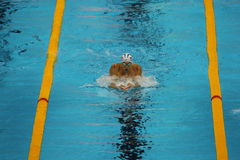 Olympic champion Michael Phelps of United States competes at the Men's 200m individual medley of the Rio 2016 Olympic Games. RIO DE JANEIRO, BRAZIL - AUGUST 10 Stock Photography