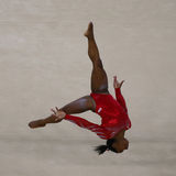 Olympic champion Simone Biles of United States during an artistic gymnastics floor exercise training session for Rio 2016 Olympics Royalty Free Stock Photography