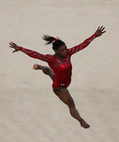 Olympic champion Simone Biles of United States during an artistic gymnastics floor exercise training session for Rio 2016 Olympics Stock Image