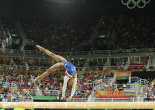 Olympic champion Simone Biles of United States competing on the balance beam at women's all-around gymnastics at Rio 2016 Stock Images