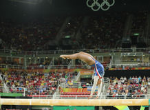Olympic champion Simone Biles of United States competing on the balance beam at women's all-around gymnastics at Rio 2016 Stock Photography