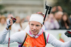 Olympic champion Svetlana Sleptsova Royalty Free Stock Photos