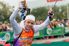 Olympic champion Svetlana Sleptsova Stock Images
