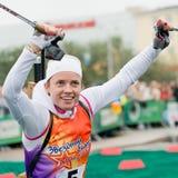 Olympic champion Svetlana Sleptsova Royalty Free Stock Photo
