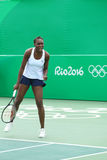 Olympic champion Venus Williams of USA in action during mixed doubles match of the Rio 2016 Olympic Games Royalty Free Stock Images