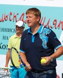 Olympic champion Yevgeny Kafelnikov tennesist. Stock Photography