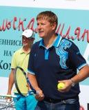 Olympic champion Yevgeny Kafelnikov tennesist. Stock Photography