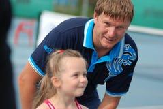Olympic champion Yevgeny Kafelnikov tennesist. Royalty Free Stock Images