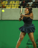 Olympic champions Serena Williams of United States in action during her singles round two match of the Rio 2016 Olympic Games Royalty Free Stock Images