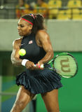 Olympic champions Serena Williams of United States in action during her singles round two match of the Rio 2016 Olympic Games Stock Image