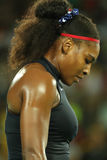 Olympic champions Serena Williams of United States in action during her singles round two match of the Rio 2016 Olympic Games Stock Photography
