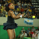 Olympic champions Serena Williams of United States in action during her singles round two match of the Rio 2016 Olympic Games Stock Images