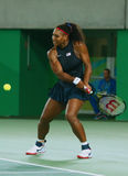 Olympic champions Serena Williams of United States in action during singles round three match of the Rio 2016 Olympic Games Royalty Free Stock Images