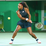 Olympic champions Serena Williams of United States in action during singles round three match of the Rio 2016 Olympic Games Stock Image