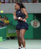 Olympic champions Serena Williams of United States in action during singles round three match of the Rio 2016 Olympic Games Stock Photo