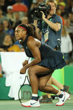 Olympic champions Serena Williams  of United States in action during singles round two match of the Rio 2016 Stock Images